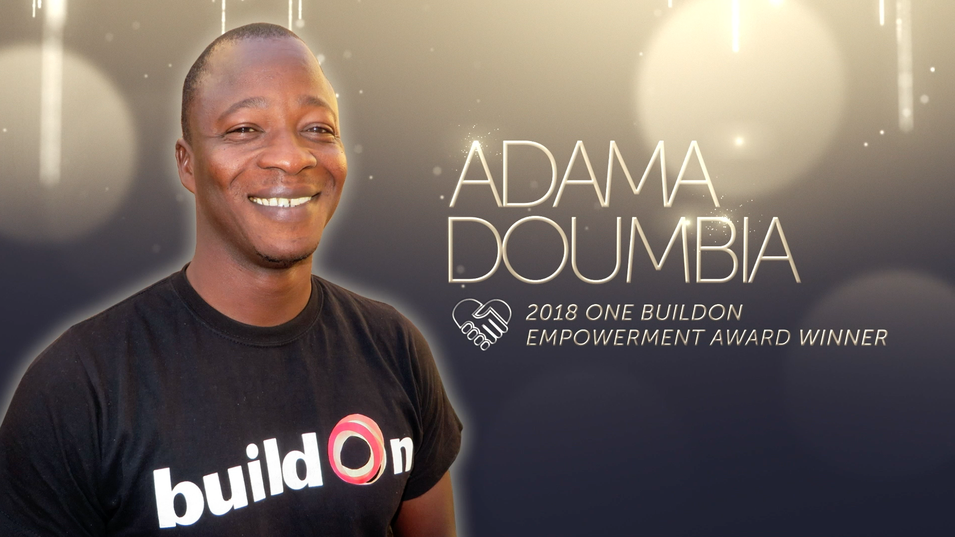 Adama Doubia, a Construction Manager from Mali, is the winner of the 2018 ONE buildOn Empowerment Award.