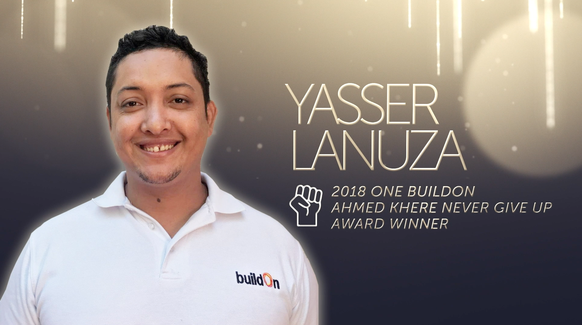 "Yasser Lanuza, a Trek Coordinator from Nicaragua, is the winner of the 2018 Ahmed Khere ""Never Give Up"" Award."