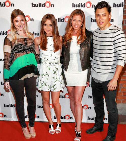 Alexandra Chando and the cast of the Lying Game