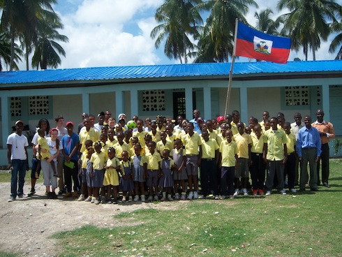 The Philadelphia group visited a completed buildOn school while in Haiti.