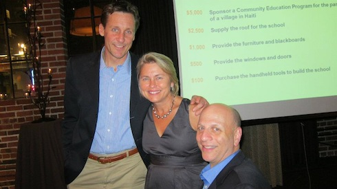 buildOn board member and Seattle Chapter founder, Randi Hedin (center), poses with a picture with buildOn CEO and Founder Jim Ziolkowski (left) and COO Marc Friedman (right) during the annual buildOn Seattle Dinner in 2011.