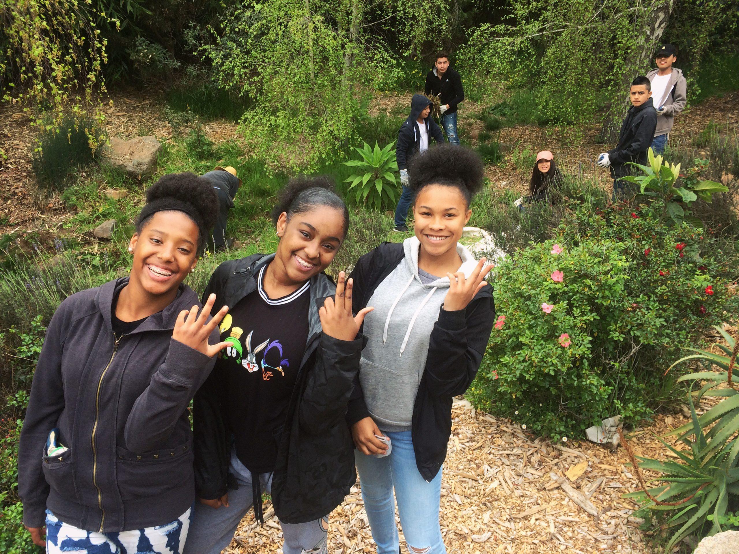 Vis Valley Greenway_LHS students Kionna, Erica, Heavynlei