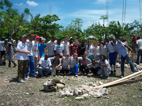 Students from Legacy Youth Tennis and Lower Merion High School went to Haiti this spring to build a school and teach tennis clinics to the Haitian villagers.