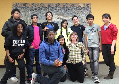 buildOn students from Philadelphia spent their spring break  organizing a day camp for children at the Jane Addams Place shelter.