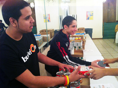 Emmitt and Emerson are a part of buildOn's mentorship program at Mott Hall Bronx High School, and were the first pair to reach 100 hours of service for the school year.