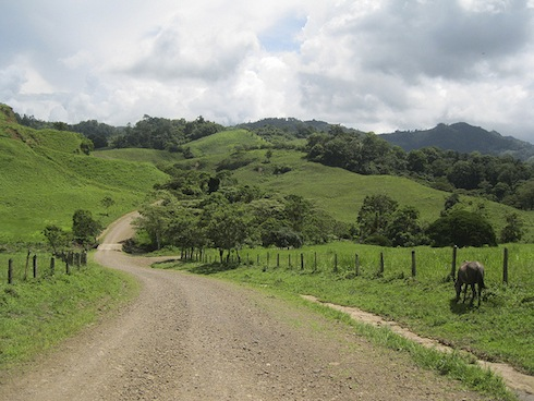 The road more or less traveled in Nicaragua.